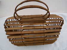 panier ancien pliable bambou indochine