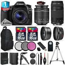 Canon EOS 80D DSLR Camera + 18-55mm IS + 75-300mm + EXT BAT + 32GB +1yr Warranty