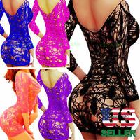 Fishnet Nightwear Body Stocking Mesh Lingerie Bodystockings Big Bodysuit Dress