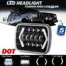 "7x6"" 5x7 LED Headlight DRL Turn Signal DOT Lamp for Jeep Cherokee XJ Wrangler YJ"