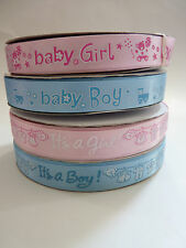 Baby Shower Satin Ribbon 15mm width sold by 1 metre
