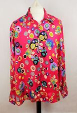 Mens Vtg 70s Style Disco Prince Crazy Psychedelic Shirt Festival XL LOUD
