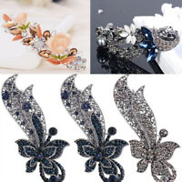 Women Chic Barrette Hair Clip Hairpin Rhinestone Vintage Jewelry Hair Accessory