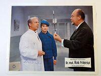 """Kino- Aushangfoto d. Films """"Dr. med. Hiob Prätorius"""" v 1965 - Pulver Signiert(55"""