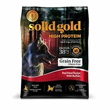 Solid Gold High Protein Grain Gluten Free Dry Dog Food Red Meat Buffalo 11lbs