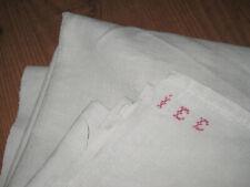 altes Leinen-Laken Umschlagtuch um 1900 oder älter mit Monogramm