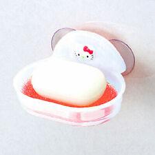 Hello Kitty Sponge Soap Holder Saver Bathroom Dish Suction Caddy Rack Dispensers
