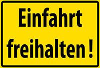 Einfahrt freihalten ! Blechschild Schild gewölbt Metal Tin Sign 20 x 30 cm F0279