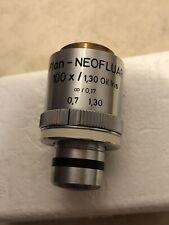 Zeiss Plan Neofluar 100x 130 Oil Microscope Objective With Iris