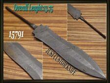 "11""Custom made Rare Damascus hunting blank blade knife making suppliers 15791"