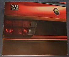 1987 Alfa Romeo Brochure Milano Spider Quadrifoglio GTV-6 Excellent Original 87