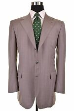 RECENT Brioni Traiano Light Gray Blue Pinstripe Wool Sport Coat Jacket 42 L