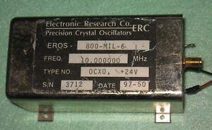 ERC high stability Oscillator OCXO 800-MIL 10 MHz SMA OUT sinewave +24V
