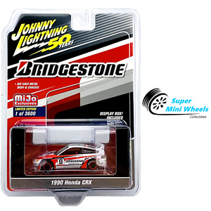Johnny Lightning 1:64 - 1990 Honda CRX Bridgestone (White)