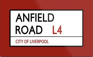 Anfield Road Metal Sign, Football sign, Liverpool sign. Retro wall sign