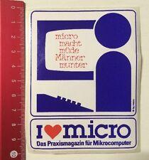 Aufkleber/Sticker: I Love Micro - Das Praxismagazin Für Mikrocomputer (21041610)