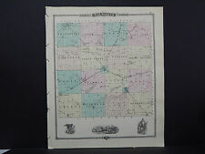 Wisconsin Map 1881 Walworth County, Milwaukee