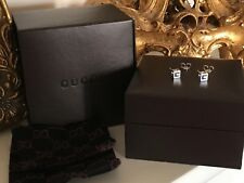 Authentic Gucci 750 18ct white Gold G Cube Earrings