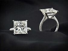 3.00Ct Princess-Cut VVS2 Diamond Solitaire Engagement Ring 14k White Gold Finish