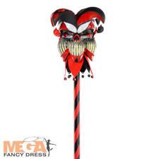 Krazed Jester Cane Teens Adults Fancy Dress Halloween Clown Costume Accessory