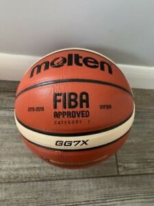 3 x Molten GG7X FIBA Approved Basketball synthetic Leather 12 panel