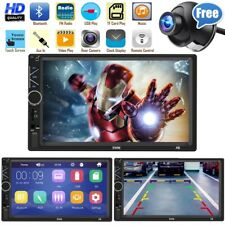 Bluetooth FM Player Stereo Radio Car 7'' HD MP5 Touch Screen + Free Rear Camera