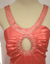 NWT Tangerine $140 De Laru Size 13 Long Gown Prom Formal Mermaid Dress Evening