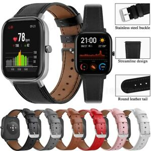 20mm Leather Watch Band Strap For Huami Amazfit GTS 2 2e 2mini Bip S U Wristband
