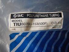 "SMC TIU B07BU-153  Blue Polyurethane Tubing Hose 1/4""OD 500' Package"