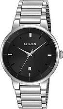 Brand New Citizen Quartz BI5010-59E Men's Stainless Steel Black Dial Dress Watch
