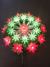 Vintage 11 Tinsel Star Tree Top Light Red Green Christmas Tree Topper With Box