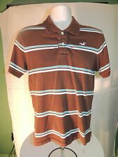 HOLLISTER Mens Casual Polo Shirt Brown S