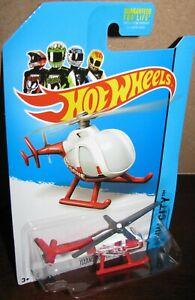 Hot Wheels 2014 HW Rescue City #46 Island Hopper Helicopter Chopper  Red White
