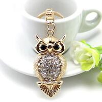 Rhinestone Crystal Keyring Charm Pendant Purse Bag Key Ring Chain Keychain Gifts