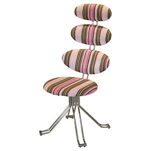 Pink Stripe Fabric Mongolfier Chair - Ex Display