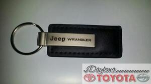 Stylish Genuine JEEP WRANGLER Leather Laser keyring key chain
