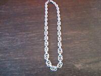 Traum Art Deco Collier Kette 835er Silber im Verlauf sehr edel 42 cm lang