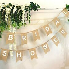 Bridal Shower - Burlap Hessian Bunting Banner Decorations Hen's Night