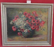 Ölbild -gemälde Blumenstrauß Margeriten Mohn Charles Wittmann 1876-1953 gelistet