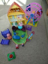 Peppa Pig house with figures, furniture and big wheel