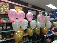 Gold Pink White Latex 10 inch Balloons Helium/Air Quality Party Decor Baloons UK