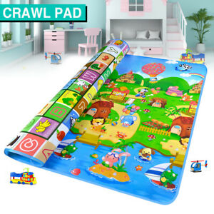 200x180cm Baby Kids Floor Play Mat Rug Picnic Cushion Crawling Mat Waterproof