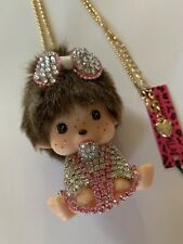 BETSEY JOHNSON PINK RHINESTONE PACIFIER BABY DOLL WITH FRECKLES NECKLACE-BJ59200