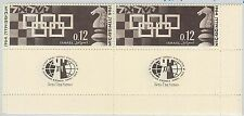 56812  -   ISRAEL  -  CHESS: STAMP WITH PRINTING ERROR!  pair with regular 1964
