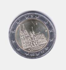 MONEDA 2 EUROS C. ALEMANIA 2011 LETRA G NORDRHEIN WESTFALEN. SIN CIRCULAR