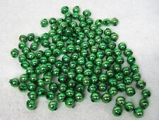 Vintage Christmas Bright Green Garland Beads 135 Loose 1/2 Inch Good Shape