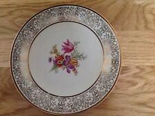 Vintage Bavaria Tirschenreuth  Pattern 2522 Gold Filigree  Floral Side Plate