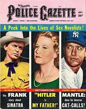 1958 (Sep.) The National Police Gazette Magazine, Mickey Mantle New York Yankees