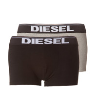 **50% OFF!!** DIESEL 'Rocco' Two Pack Boxer Trunks / XL / Black - Grey / RRP £35