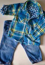 NAME IT Ensemble 3 pièces: jean's, chemise & veste pour garçon 18/23 mois (86cm